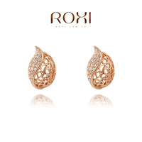 ROXI Christmas gift INet Leaf Earrings,Gift to girlfriend is beautiful,Pure hand made bring you different elegant,2020020395