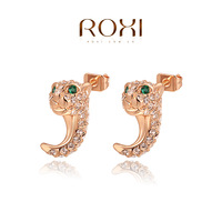 ROXI Christmas  AAA Zircon Stud Earrings,Ladies fashion dinner ornaments,Pure hand made bring you different elegant,2020041580