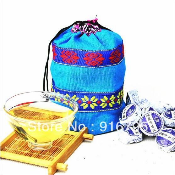 Chinese yunnanmini tuo tea Glutinous rice fragrance raw tea flavor 50 pcs PU er cooked tea with beautiful(China (Mainland))
