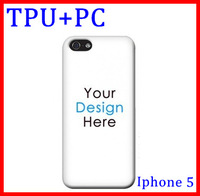 christmas gift custom TPU+PC case for iphone 5 5s,Soft + hard plastic rubber cover with custom 100pcs mix 20 designs china post