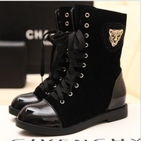 2013 Spring&autumn women motorcycle martin boots knee-high platform wedge winter snow boots