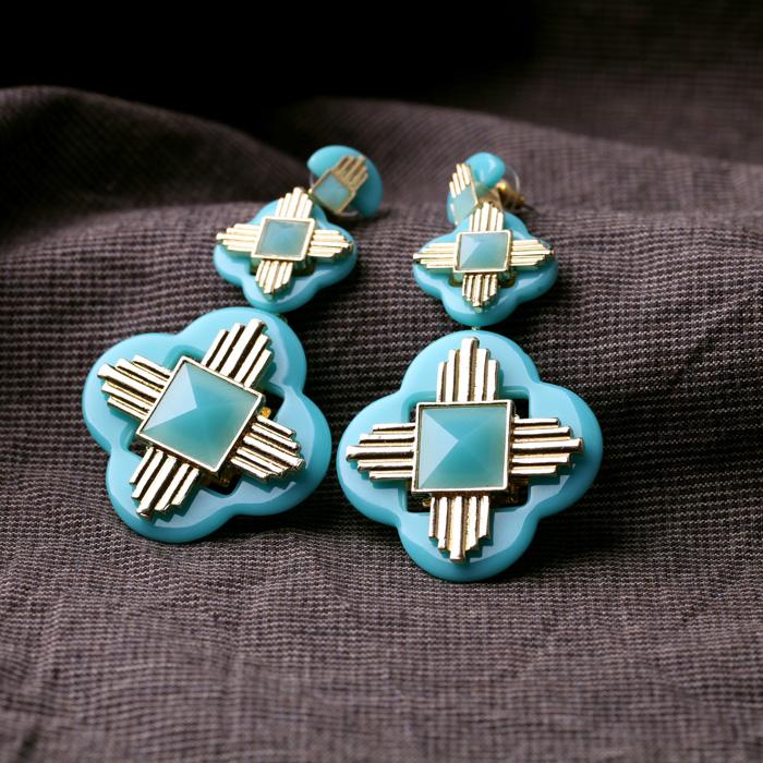 Ювелирные изделия Оптом/2013 Мода Свежий Неоновые Цвета Крест Шпилька Серьги