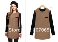 Free Shipping Hit Color Long-Sleeved Knit Shirts ,Bottoming Long-Sleeved Women Tops,Women Blouse  size S,M,L,XL