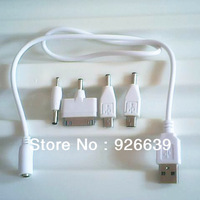 4 IN 1 UNIVERSAL SMART USB CHARGER CABLE FOR iPHONE  4 /4S -MICRO USB SAMSUNG mp3 mp4 game player, free shipping