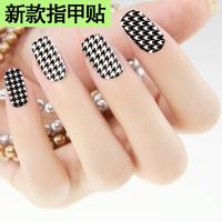 Finger sticker full polish houndstooth nail art series