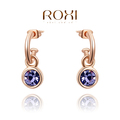 ROXI Christmas fashion Earrings,rose gold glated Austrian crystals 100% handmade fashion jewelry,2020034280