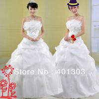 Wholesale Strapless princess Ball Gown Wedding Dresses/cheap bridesmaid dresses/