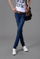 J3 new 2013 autumn winter fashion woman vintage Jeans Slim-fitting Pencil Pants Cotton Jeans Narrow leg stretch pants & capris