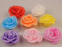 Artificial Flower Heads 5cm PE Rose Wedding party Hair dressing