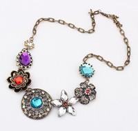 Fashion gorgeous vintage exquisite flower diamond necklace cxt 91459
