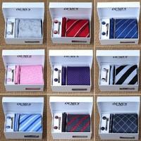 (No Gift Box) 2014 New High Quality 100% Silk Tie Brand Men's Necktie Plaid Stripe Ties Gravata Wholesale And Retail B0071