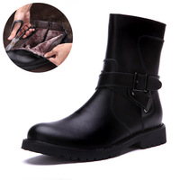November 2013  Men'S Winter Warm Cotton-Padded boots Male High Top British Fashion motorcycle  Boots free shipping