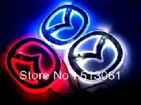 Free Shipping car logo led light  for new Mazda 6 and  2010 Mazda 5 ,car badge light, emblems led light