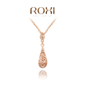 ROXI Christmas gift fashion Classic hollow necklace rose gold plated 100%hand made jewelry,2030019345