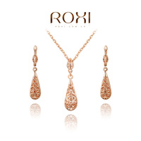 ROXI Christmas gift classical crystal set,Gift to girlfriend 100% hand made,fashion jewelry earrings+necklace,2070019625