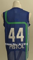 Free Shipping,#44 Pistol Pete Maravich 2013 Rev 30 Top quality Basketball jersey,Embroidery logos,Size S--3XL,Mix Order
