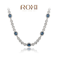 ROXI Christmas gift genuine Austrian crystals luxury necklace rose gold plated 100%hand made jewelry,20300393270