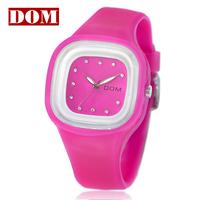 Dom fashion watch women's silica gel watches brand watches ladies watch d025