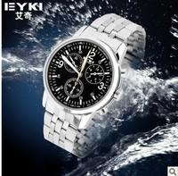 Ikey eyki male watch luminous quartz watch male strip steel pointer table waterproof