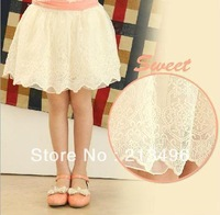 free shipping ! Girls lace skirts  ,skirts for girls     5pcs/lot    LSZ01