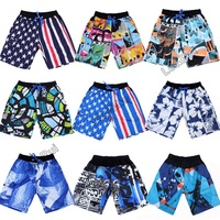 Fashion top quality beach surf board casual gym sports summer swim classics pattern shorts for man men shorts clothes pants X02