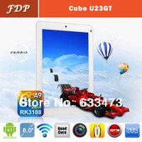 DHL free  popular Cube U23GT Tablet PC 8 inch Android 4.1 Quad Core  1.6GHz IPS 1GB RAM 16GB HDMI wifi 1024x768 hot mid