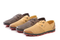 Free Shipping,(Real leather) Super Comfortable Leather driving Mocassins,Soft loafers, business men's shoes new 2013 Sneakers