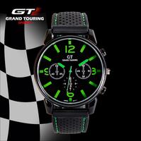 Racing GT Grand Touring Men Watch Cool Sports Gift Watch Quartz Military Watch Hot Sales 100pcs/lot
