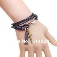 2013 Hot  Fashion bracelet adjustable Jewelry Leather braceletes men and women bracelet-F98N0