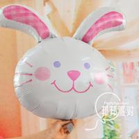 rabbit head big white rabbit birthday  foil balloon