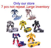 Legends 7PCS Robot Optimus Prime Bumblebee Action Figure Part Car Airplanes Toys for boys Classic Puppet Gift model building kit