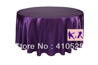 "Purple tablecloths/Free shipping/335CM Round table cloths/Satin table cloth/Wedding tablecloths/132""round"