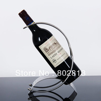 Quality Curved Stainless Steel Wine Holders Lines Wine Rack Creative Bar Wine Rack