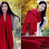 2013 scarf pure wool stripe slanting women's thermal cape dual