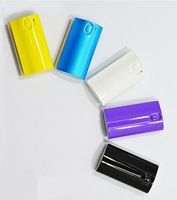 wholesale 10 pieces 1 lot Many color 5600mAh External Backup Power Bank 1pcs micro cable with Four plug
