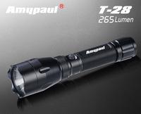 Amypaul 225lumen led diving flashlights, black aluminium alloy cree led flashlights