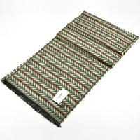 Stripe yarn dyed wool male ultra long scarf lamp