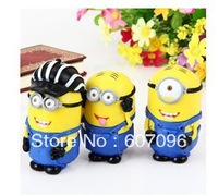 China post  Freeshipping Set of 3 Hot Cartoon Despicable Me Minion Dave Characteristic Collection Figure Models