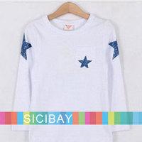 Retail Fashion Stars Tshirt Baby Boy Autumn Clothing,Long Sleeve Tops,Free Shipping K0742
