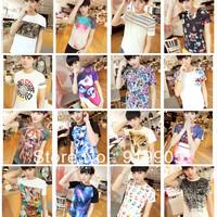Super Cool !Hot Sale! Size M-XL,Unique Fashion Men's Short Sleeve Cotton T-Shirt, Printed 3D O-Neck Mens t shirt Freeshipping