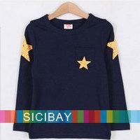 New Free Shipping Baby Kids Long Sleeve Tshirt Boy Fashion Cool O-neck Tops K0742