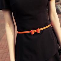 Gentlewomen elegant all-match fresh candy color bow belt strap female yd002