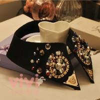 Luxury diamond exquisite beading lace false collar clothing collar xjl001