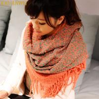 Winter yarn scarf autumn and winter women's cape winter muffler scarf all-match dual