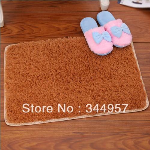 Hot ZAKKA Pleuche camurça mat Anti chão deslizamento sólida antiderrapante tapetes tapete da porta / tapete / tapete tapete 60 X 40 CM 5 cores(China (Mainland))