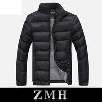 2013 new Men's Winter Down Jacket Lining Cotton Keep Warm Polyester Water Men's Jackets Winter Sport Overcoats for Men