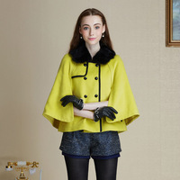 Winter 2013 the new luxury fashion rabbit fur collar coat
