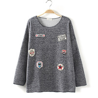 sweaters 2013 women fashion, Free shipping,sweater women.Terry Medal