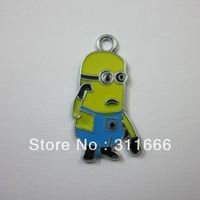 "Free shipping 100 pcs/lot Beedo""Despicable Me"" zinc alloy enamel charms pendants"