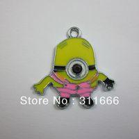 "Free shipping 100 pcs/lot Beedo""Despicable Me"" zinc alloy enamel charms pendants"